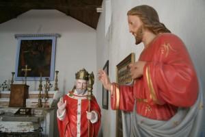 statues du Christ et de St Césaire