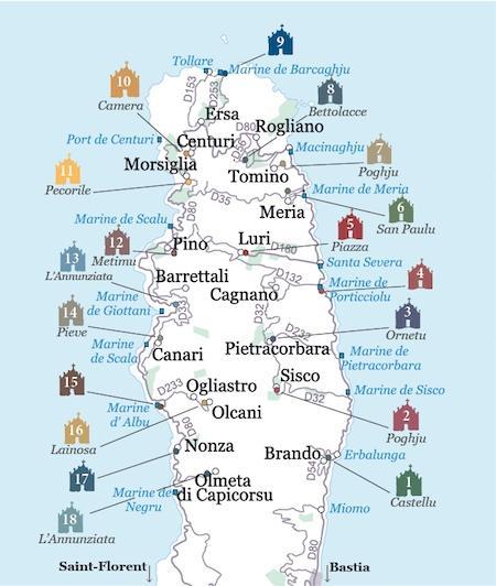 Route des chapelles du Cap Corse