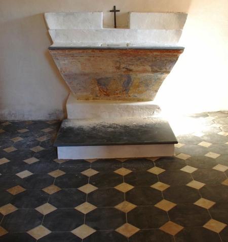 Détail autel Sainte-Catherine (Pietracorbara)